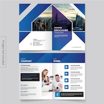 Bi-fold-broschürenvorlage