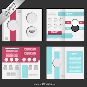 Bi-fold editierbare broschüre mock-up