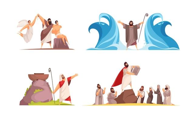 Bibelerzählungen entwerfen konzeptillustration