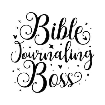 Bibeljournal-chef einzigartiges typografieelement premium-vektor-design
