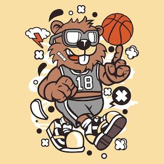 Biber-basketball-spieler