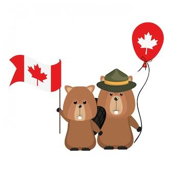 Biberwaldtier von kanada