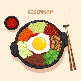 Bibimbap koreanisches essen