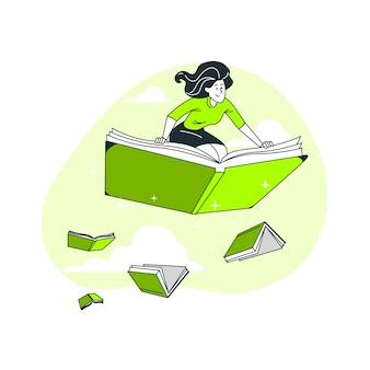 Bibliophile konzeptillustration
