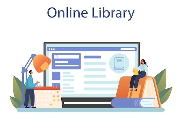 Bibliothekar-onlinedienst oder -plattform