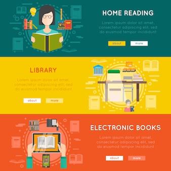Bibliotheks-banner-set