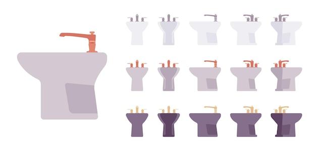 Bidet-badezimmer-set