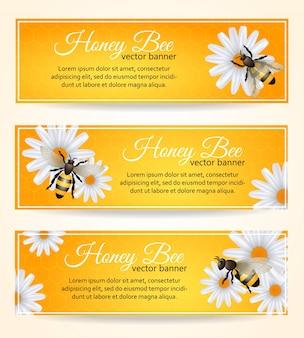 Biene banner gesetzt
