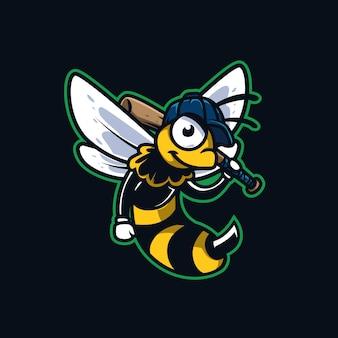 Biene baseball maskottchen