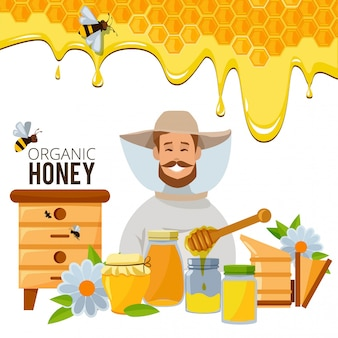 Biene ein honig