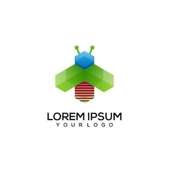 Biene logo design bunt