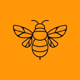 Biene logo maskottchen