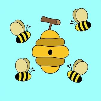 Biene symbol tier vektor illustration