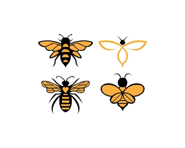 Biene tier symbol. honig fliegende biene.