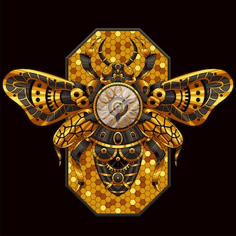 Bienen dekorative illustration