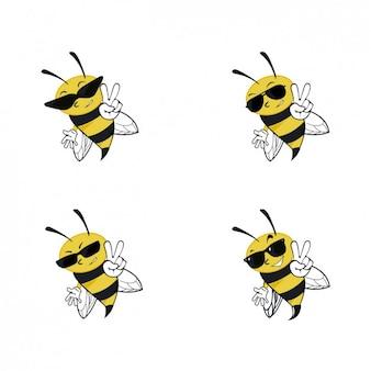 Bienen mit sonnenbrille