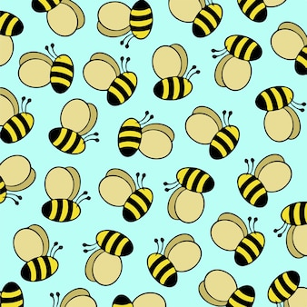 Bienen-muster-hintergrund-vektor-illustration