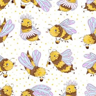 Bienen nahtloses muster