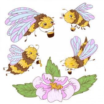Bienen sammeln honig