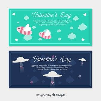 Bienen und Ovnis Valentine Banner