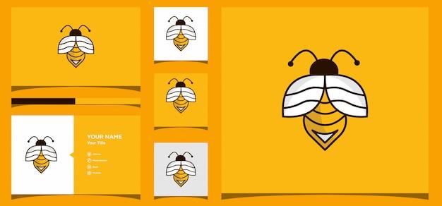 Bienenlogo design. logo-design und visitenkarte premium