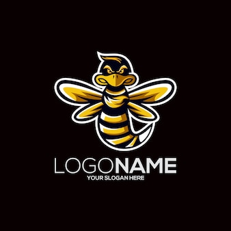 Bienenlogo design