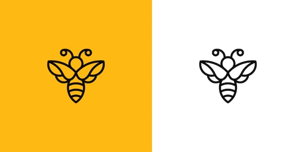Bienenlogo designvorlage