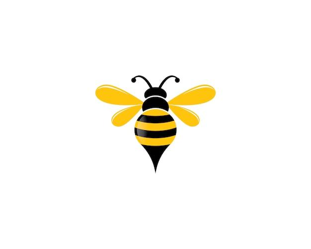 Bienenlogoikonenillustration