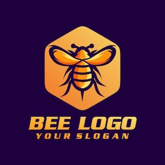 Bienenlogovektor, schablone, illustration