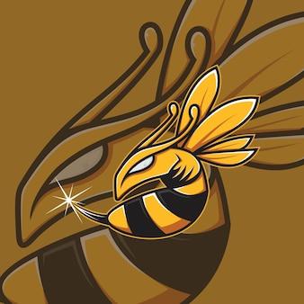 Bienenmaskottchen esport logo