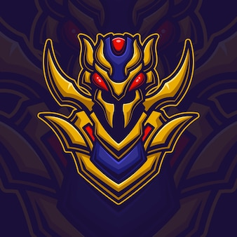 Bienenroboter monster esport logo gaming