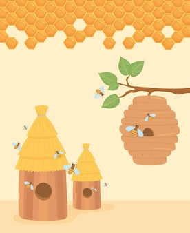 Bienenstock imkerei baum