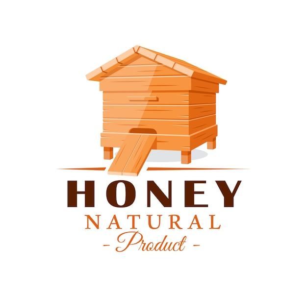 Bienenstock lokalisiert auf weißem hintergrund