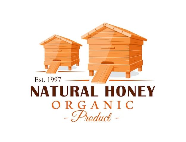 Bienenstöcke lokalisiert auf weißem hintergrund