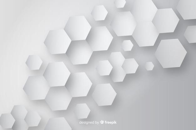Bienenwaben papierdesign hintergrund