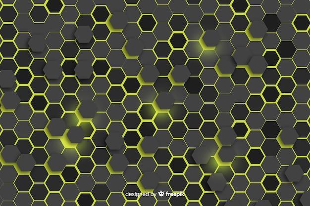 Bienenwabenhintergrund mit lichtern