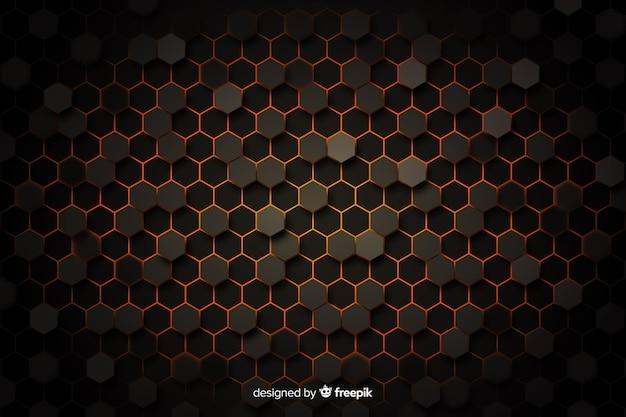 Bienenwabenhintergrund mit vignette