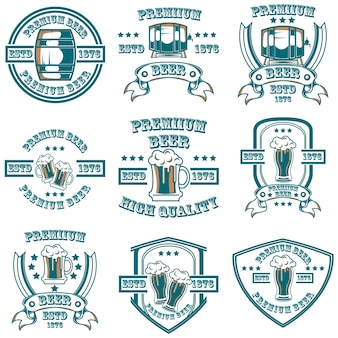 Bier artikel-logo-set