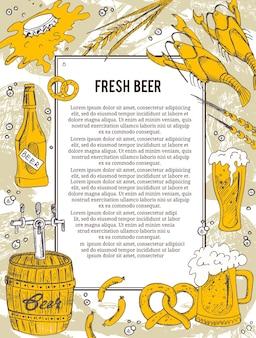 Bier banner oder flyer.