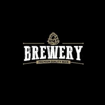 Bier-brauerei-weinlese-firmenzeichen