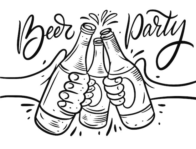Bier cheersset lokalisiert auf weiß