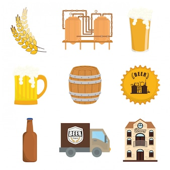 Bier design. illuistration