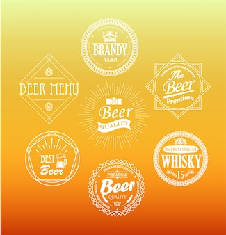 Bier embleme, vektor.