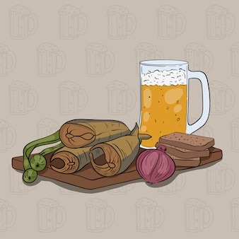 Bier gesetzt