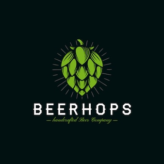 Bier hopfen wappen logo