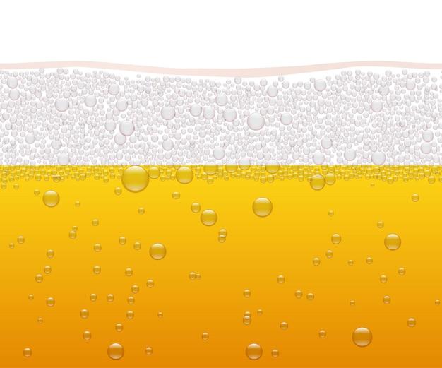Bier horizontale nahtlose muster oktoberfest hintergrund