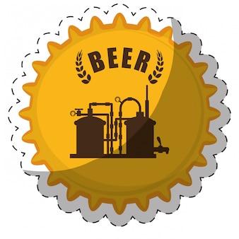 Bier im zusammenhang mit symbolen bild