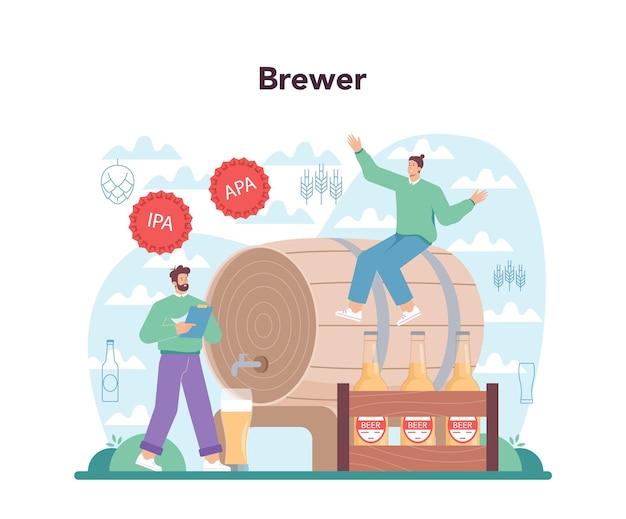 Bier-konzept. glasflasche und vintage-becher mit craft-alkohol-getränk