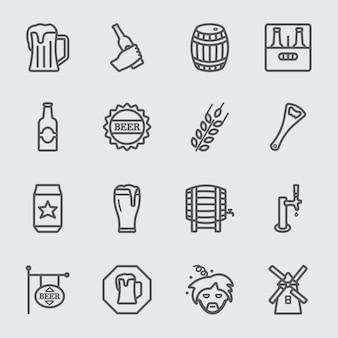 Bier linie symbol