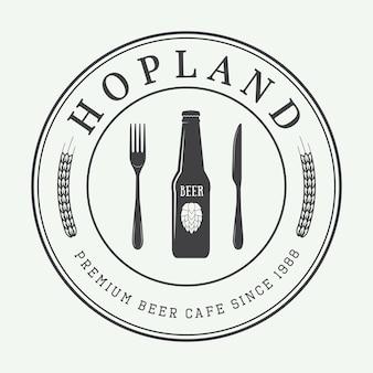 Bier-logo im vintage-stil
